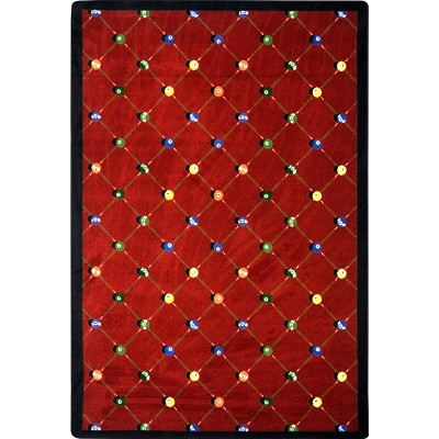 Games People Play Billiards Red Area Rug by Joy Carpets
