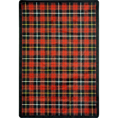 Kaleidoscope Bit O' Scotch Lumberjack Red Area Rug by Joy Carpets
