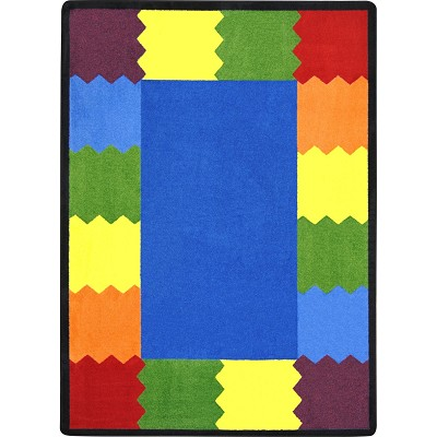 Kid Essentials - Early Childhood Block Party Multi Area Rug by Joy Carpets