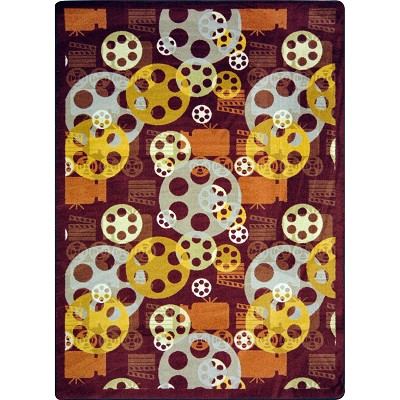 Any Day Matinee Blockbuster Burgundy Area Rug by Joy Carpets