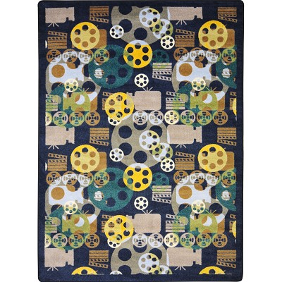 Any Day Matinee Blockbuster Navy Area Rug by Joy Carpets