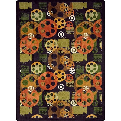 Any Day Matinee Blockbuster Plum Area Rug by Joy Carpets