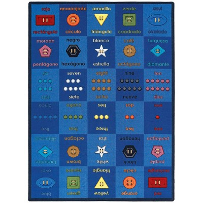 Kid Essentials - Language & Literacy Button Button Multi Area Rug by Joy Carpets
