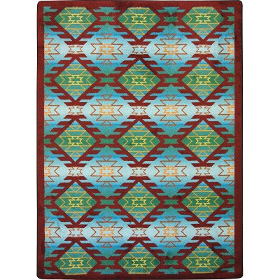 Kaleidoscope Canyon Ridge Desert Turquoise Area Rug by Joy Carpets