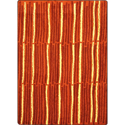Kid Essentials - Teen Cascade Orange Area Rug by Joy Carpets