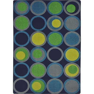 Kid Essentials - Teen Circle Back Navy Area Rug by Joy Carpets
