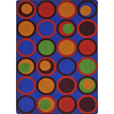 Kid Essentials - Teen Circle Back Primary Area Rug by Joy Carpets