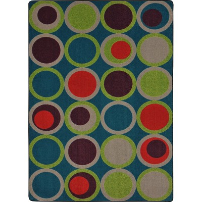 Kid Essentials - Teen Circle Back Tropics Area Rug by Joy Carpets