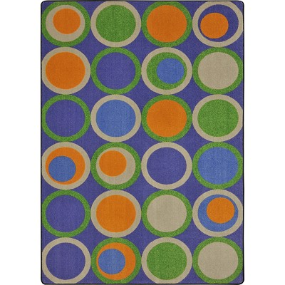 Kid Essentials - Teen Circle Back Violet Area Rug by Joy Carpets