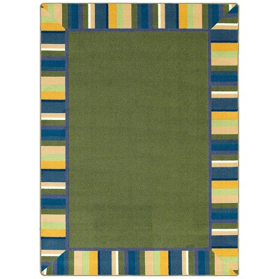 Kid Essentials - Infants & Toddlers Clean Green Bold Area Rug by Joy Carpets