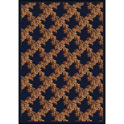 Any Day Matinee Corinth Navy Area Rug by Joy Carpets