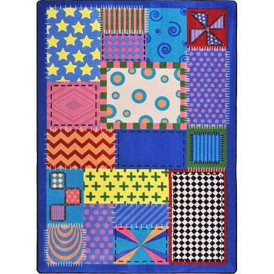 Joy Carpets Kid Essentials Infants Toddlers Crazy Quilt Multi