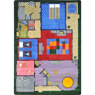 Kid Essentials - Active Play & Juvenile Creative Play House Multi Area Rug by Joy Carpets