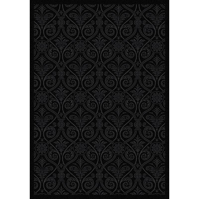 Any Day Matinee Damascus Black Area Rug by Joy Carpets