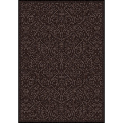 Any Day Matinee Damascus Brown Area Rug by Joy Carpets