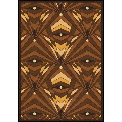 Any Day Matinee Deco Strobe Brown Area Rug by Joy Carpets