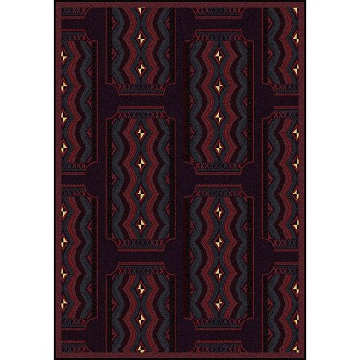 Any Day Matinee Deco Ticket Burgundy Area Rug by Joy Carpets