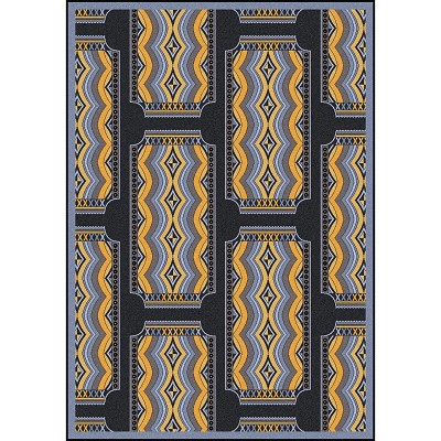 Any Day Matinee Deco Ticket Charcoal Area Rug by Joy Carpets