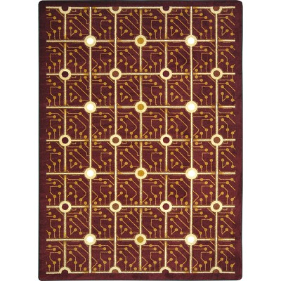 Kaleidoscope Electrode Burgundy Area Rug by Joy Carpets