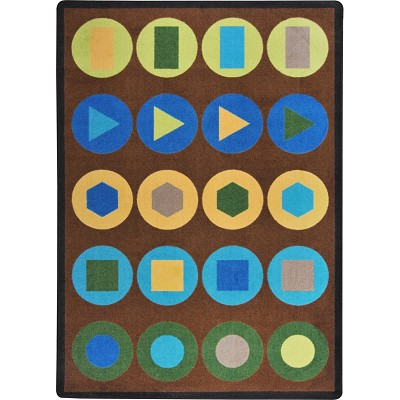 Kaleidoscope Encircled Earthtone Area Rug by Joy Carpets