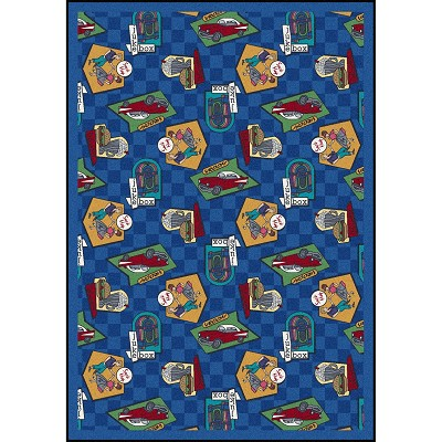 Kaleidoscope Fabulous Fifties Blue Area Rug by Joy Carpets