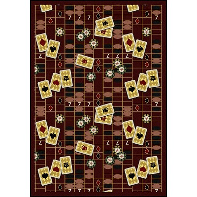 Games People Play Feeling Lucky Burgundy Area Rug by Joy Carpets