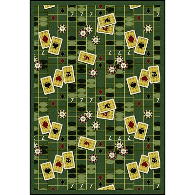 Games People Play Feeling Lucky Emerald Area Rug by Joy Carpets