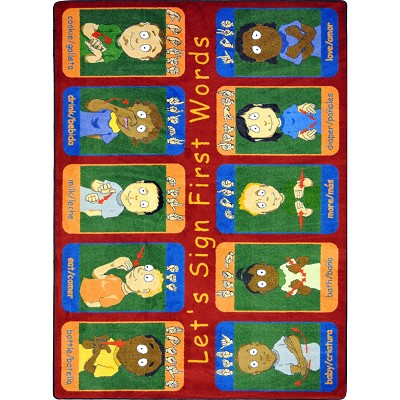 Kid Essentials - Music & Special Needs First Signs Multi Area Rug by Joy Carpets
