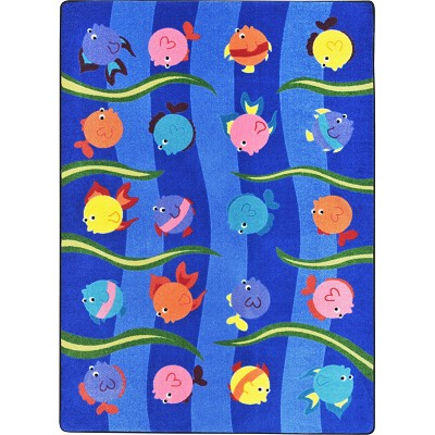 Kid Essentials - Infants & Toddlers Friendly Fish Multi Area Rug by Joy Carpets