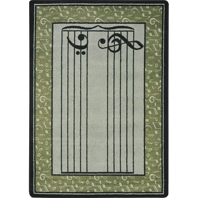 Kid Essentials - Music & Special Needs Fully Staffed Sage Area Rug by Joy Carpets