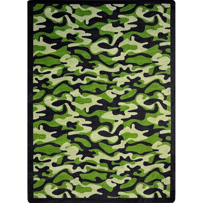 Kaleidoscope Funky Camo Green Area Rug by Joy Carpets