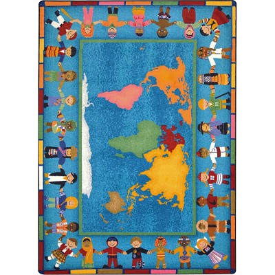 Kid Essentials - Early Childhood Hands Around the World Multi Area Rug by Joy Carpets