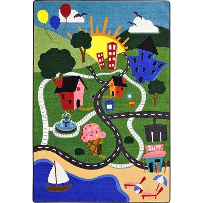 Kid Essentials - Early Childhood Happy Town Multi Area Rug by Joy Carpets