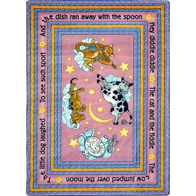 Kid Essentials - Infants & Toddlers Hey Diddle Diddle Pink Area Rug by Joy Carpets