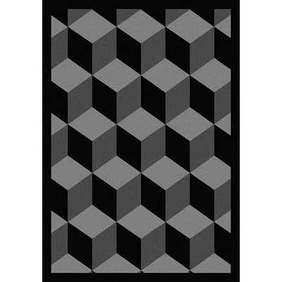 Kaleidoscope Highrise Black Area Rug by Joy Carpets