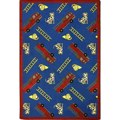 Playful Patterns Hook and Ladder Blue Area Rug by Joy Carpets