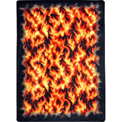 Kaleidoscope Inferno Red Area Rug by Joy Carpets