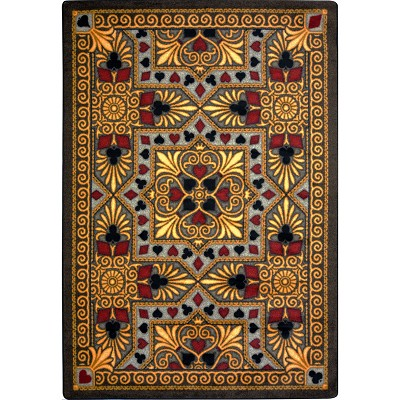 Games People Play Jackpot Beige Area Rug by Joy Carpets