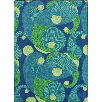 Kid Essentials - Teen Jazzy Blue/Teal Area Rug by Joy Carpets