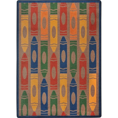 Playful Patterns Jumbo Crayons Earthtone Area Rug by Joy Carpets