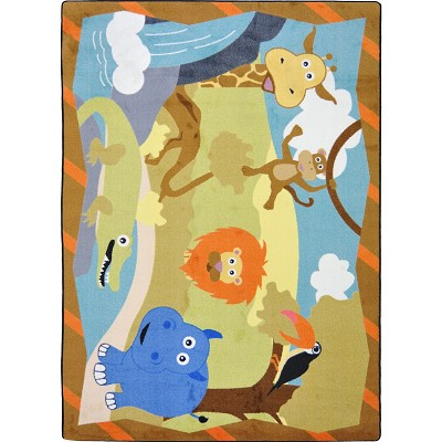 Kid Essentials - Infants & Toddlers Jungle Babies Multi Area Rug by Joy Carpets