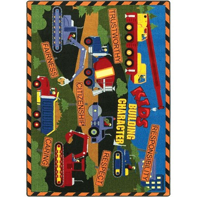 Kid Essentials - Inspirational Kid's Building Character Multi Area Rug by Joy Carpets