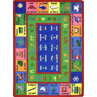 Kid Essentials - Language & Literacy LenguaLink (Spanish) Multi Area Rug by Joy Carpets