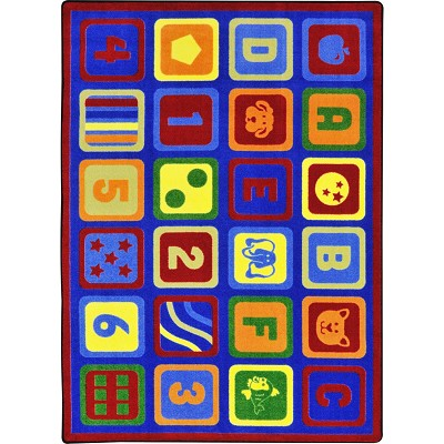 Kid Essentials - Early Childhood Letters Count Multi Area Rug by Joy Carpets