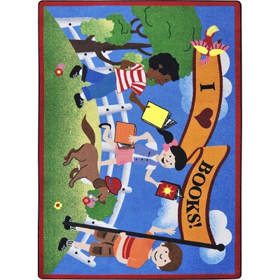 Kid Essentials - Language & Literacy Library Day Multi Area Rug by Joy Carpets