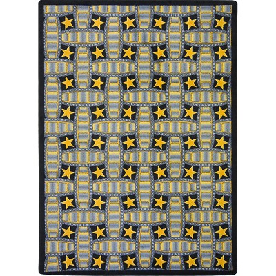 Any Day Matinee Marquee Star Gray Area Rug by Joy Carpets