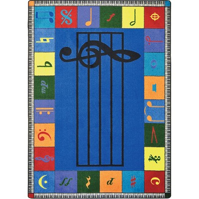 Kid Essentials - Music & Special Needs Note Worthy (Elementary) Multi Area Rug by Joy Carpets