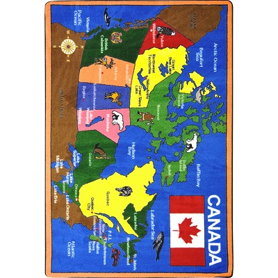 Kid Essentials - Geography & Environment Oh Canada Multi Area Rug by Joy Carpets