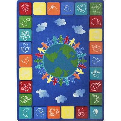 Kid Essentials - Geography & Environment One World Primary Area Rug by Joy Carpets