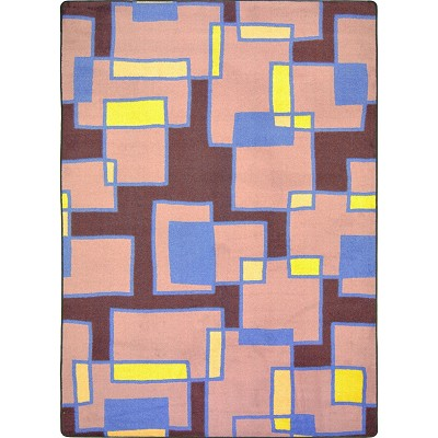 Kid Essentials - Teen Outside the Box Grape Area Rug by Joy Carpets
